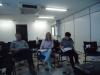 Sra. Diléia, Sr. Elói e Sra. Gisele, Presidente da Associação dos Supervisores Escolares de Minais Gerais.