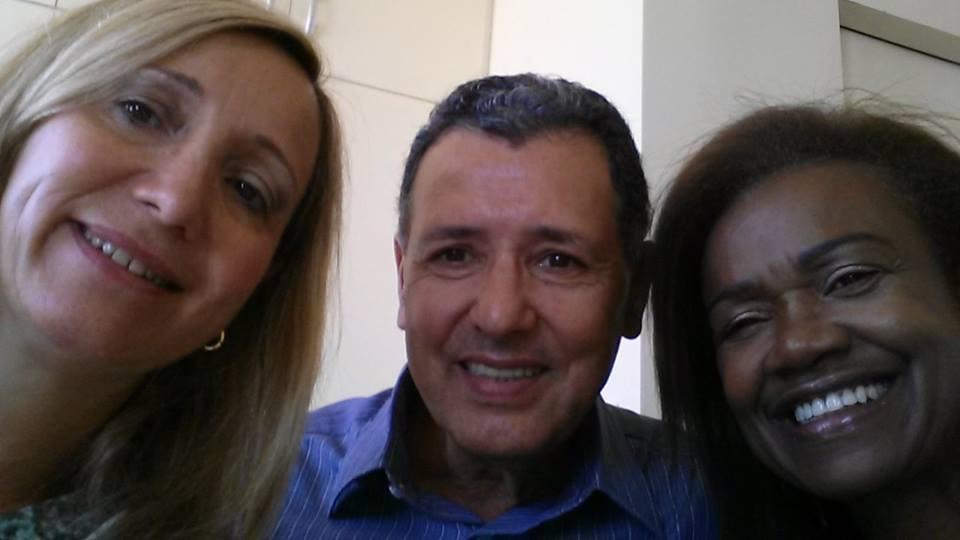 Selfie dos Presidentes das três Associações (AOESC, AAESC e ASESC).