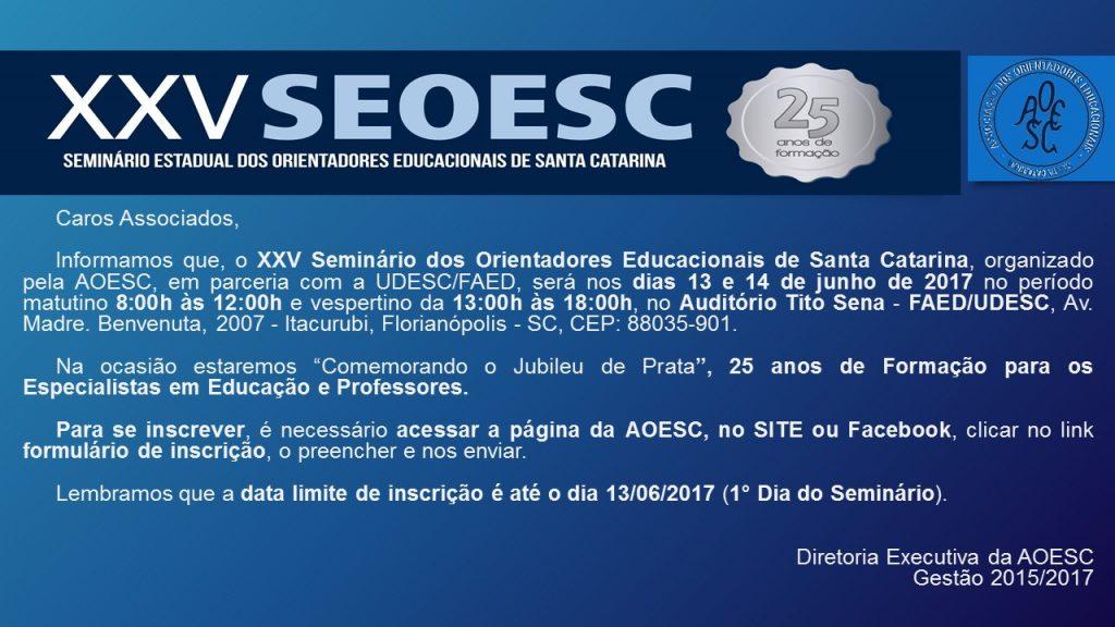 MODELO - Convite para o XXV Seminário - 2017
