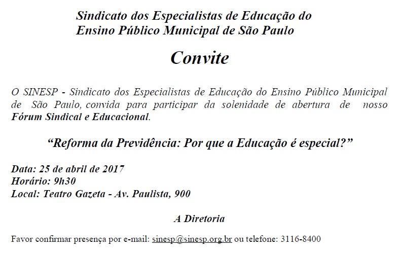convite sinesp
