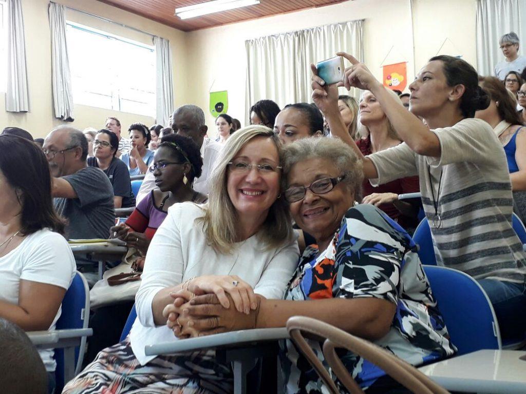 Vice-Presidenta da AOESC, O.E Sra.Diléia e O.E Sra. Altair