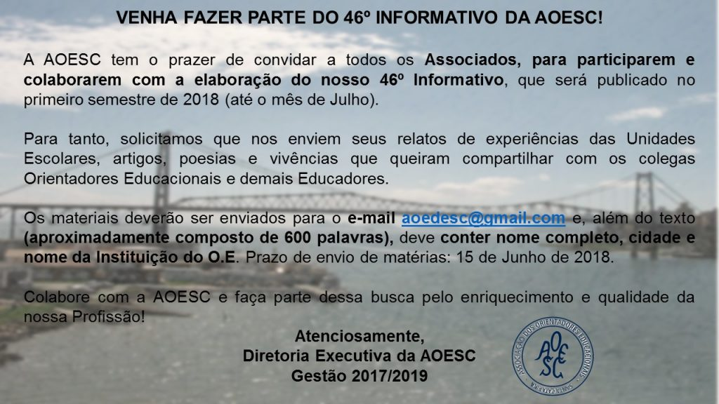 Convite associados colaborarem 46 informativo