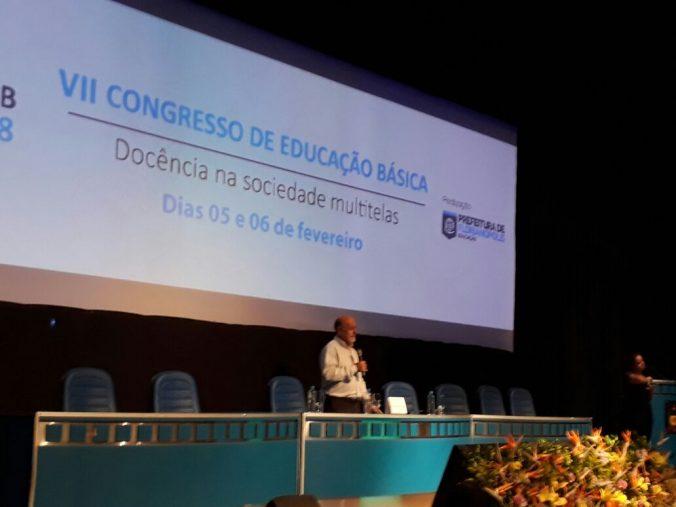 """Conferência de encerramento """"Inovação na gestão e nas práticas pedagógicas""""  Profº Dr. Ismar de Oliveira Soares – Universidade de São Paulo – USP"""