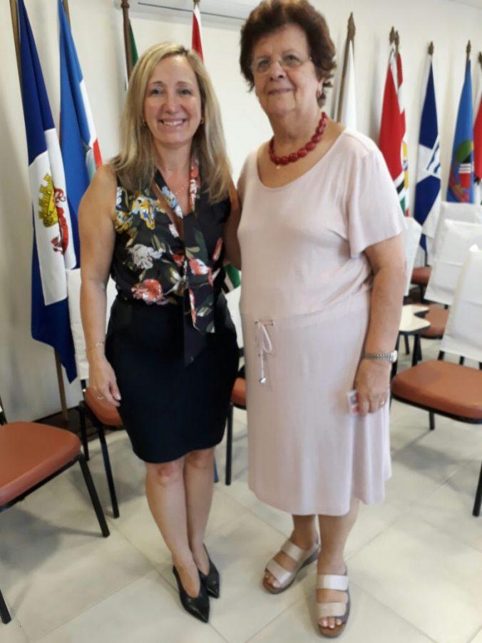 Diléia Pereira Bez Fontana, Presidente da AOESC e Maria de Andrade da Silva, Presidente da ACP
