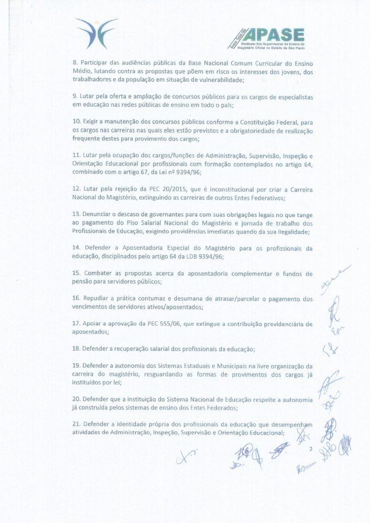 Carta do XXIII Fórum Brasília p.2 Maio 2018