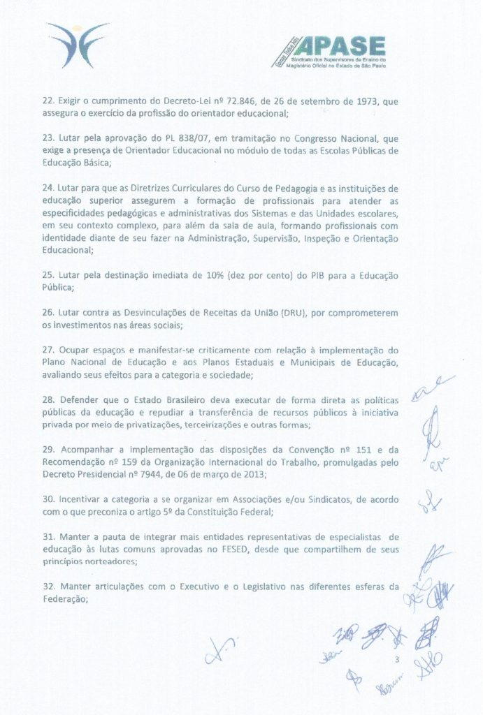 Carta do XXIII Fórum Brasília p.3 Maio 2018