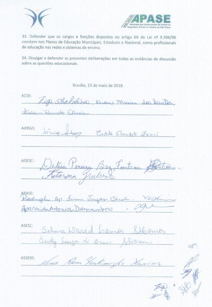 Carta do XXIII Fórum Brasília p.4 Maio 2018