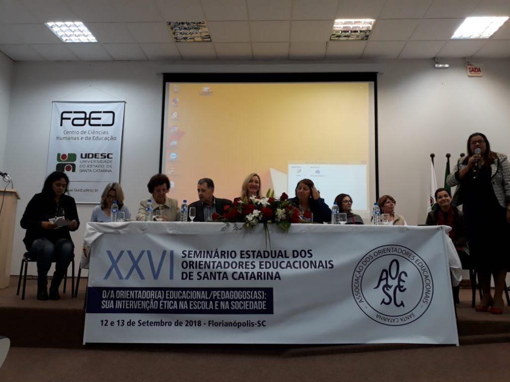 Mesa de Autoridades do XXVI Seminário da AOESC