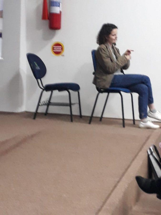 Intérprete de LIBRAS no XXVI Seminário da AOESC