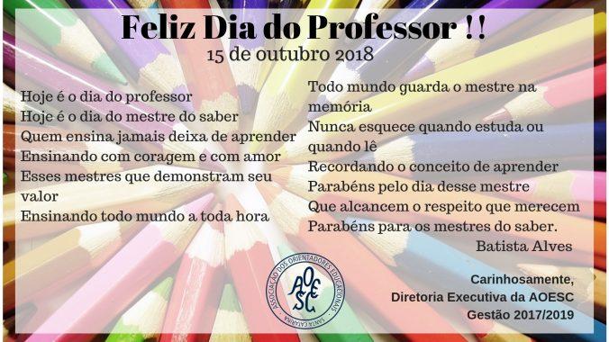 Hoje é o dia do professor