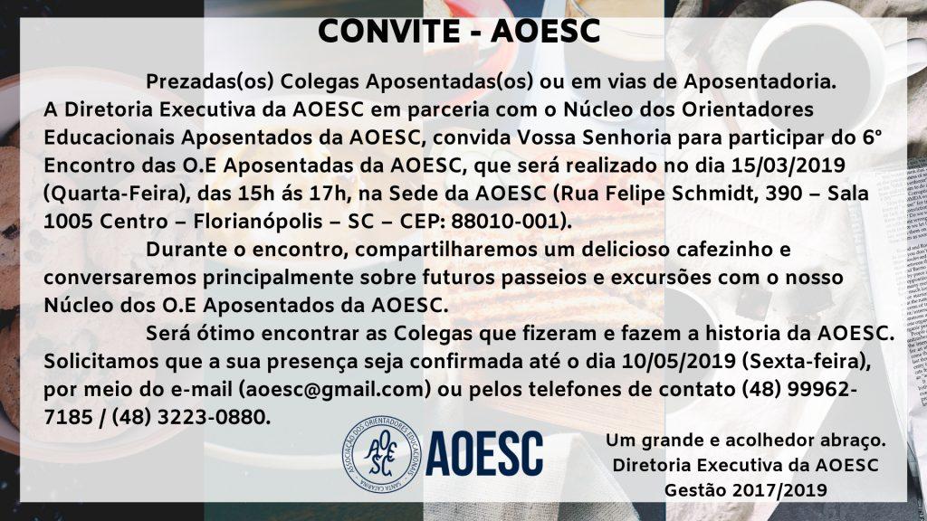 Convite 6º Encontro Aposentados 15.05.2019