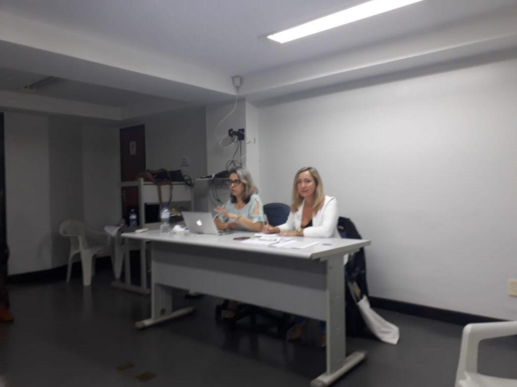 Presidente da AOESC, Sra. Diléia Pereira Bez Fontana com a presidente da ASESC, Sra. Rosimeri Jorge da Silva.