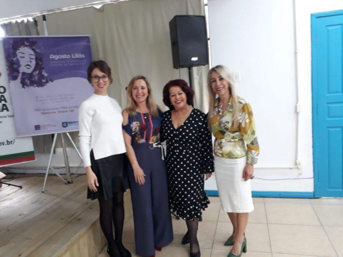Presidente Diléia Pereira Bez Fontana ao lado da Presidente do CEDIM- SC- CONSELHO ESTADUAL DOS DIREITOS DA MULHER DE  SANTA CATARINA Sra. Celinha Fernandes .