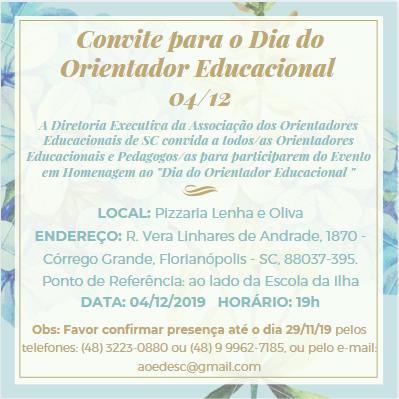 Convite Dia do Orientador Educacional